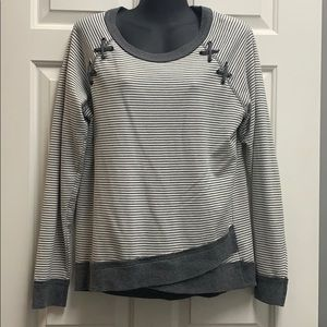 Maurices gray and white shirt